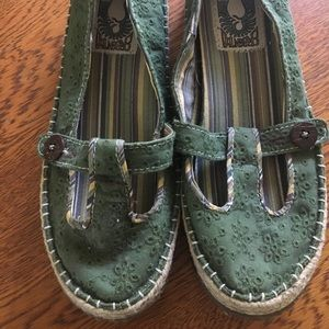 Simple Green Toe shoes 8.5